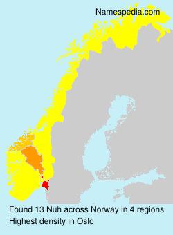 Familiennamen Nuh - Norway