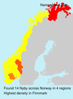 Surname Nyby in Norway