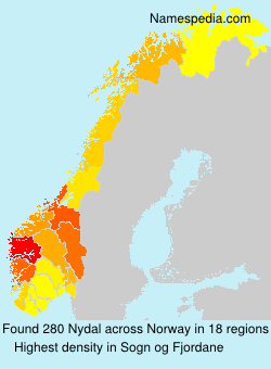 Familiennamen Nydal - Norway