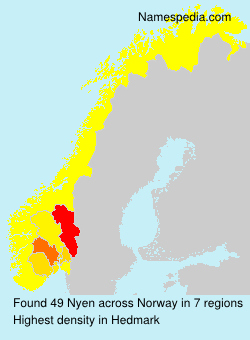 Surname Nyen in Norway