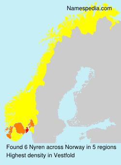 Familiennamen Nyren - Norway