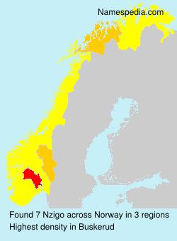 Familiennamen Nzigo - Norway
