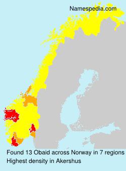 Surname Obaid in Norway