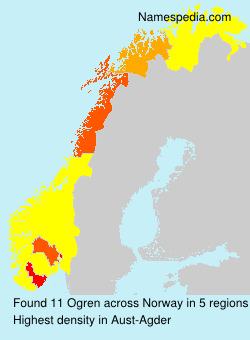Surname Ogren in Norway