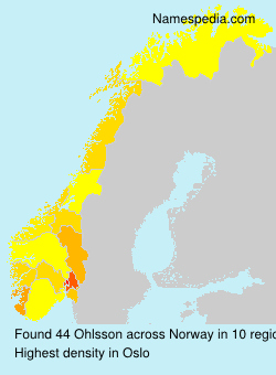 Surname Ohlsson in Norway