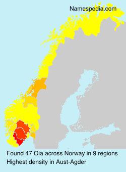 Familiennamen Oia - Norway