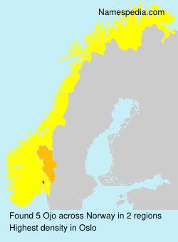 Familiennamen Ojo - Norway