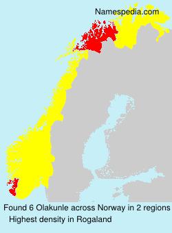 Familiennamen Olakunle - Norway
