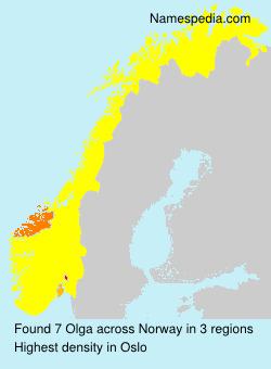 Surname Olga in Norway