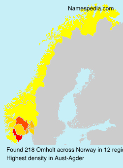 Surname Omholt in Norway