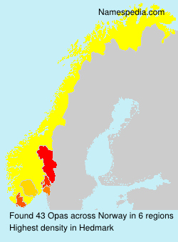 Surname Opas in Norway