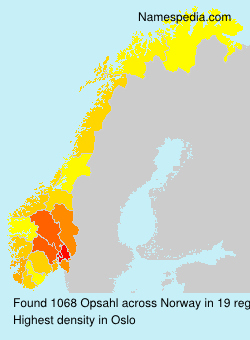 Surname Opsahl in Norway