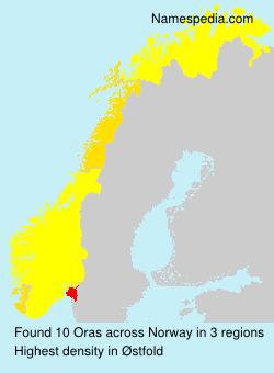 Surname Oras in Norway