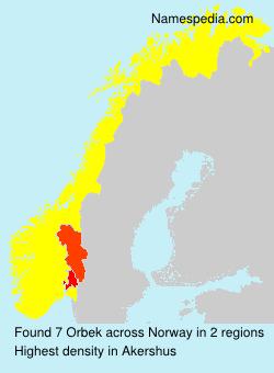 Familiennamen Orbek - Norway