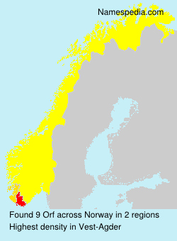Surname Orf in Norway