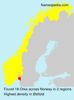 Familiennamen Orka - Norway