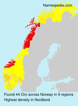 Familiennamen Oro - Norway