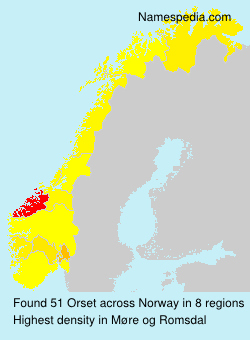 Surname Orset in Norway