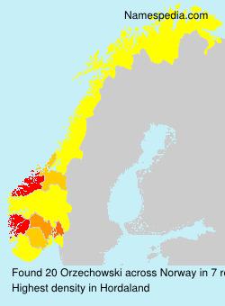 Surname Orzechowski in Norway