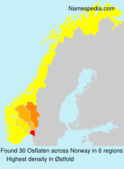 Surname Osflaten in Norway