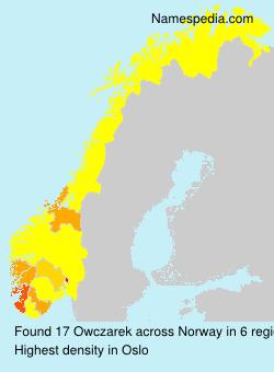 Surname Owczarek in Norway