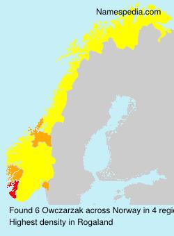 Surname Owczarzak in Norway