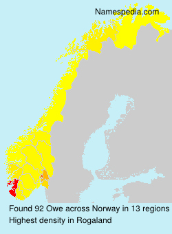 Surname Owe in Norway