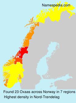 Surname Oxaas in Norway