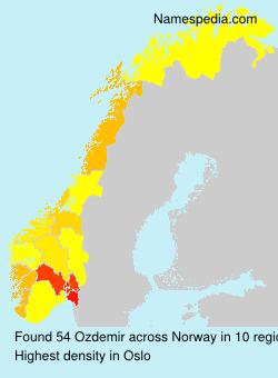 Surname Ozdemir in Norway
