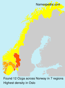 Surname Ozga in Norway