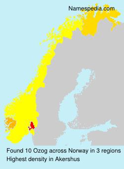 Surname Ozog in Norway