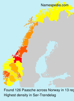 Surname Paasche in Norway