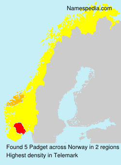Surname Padget in Norway