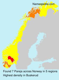 Surname Pareja in Norway