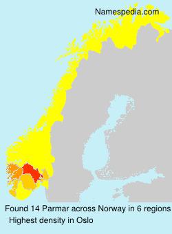Familiennamen Parmar - Norway