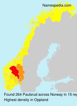 Surname Paulsrud in Norway