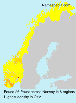 Surname Paust in Norway
