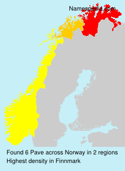 Familiennamen Pave - Norway