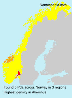 Surname Pda in Norway