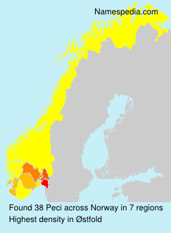 Surname Peci in Norway