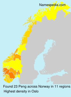 Surname Peng in Norway