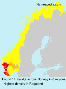 Surname Peralta in Norway