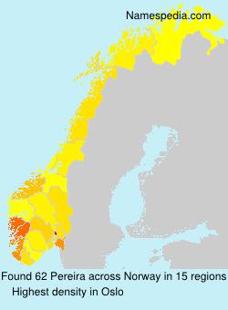 Familiennamen Pereira - Norway