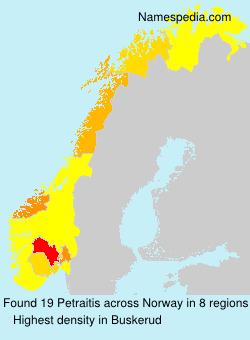 Familiennamen Petraitis - Norway