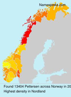 Surname Pettersen in Norway