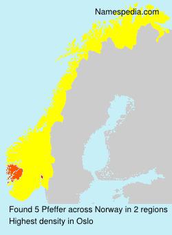 Surname Pfeffer in Norway