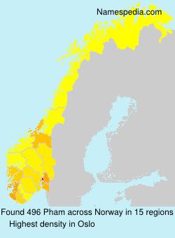 Familiennamen Pham - Norway