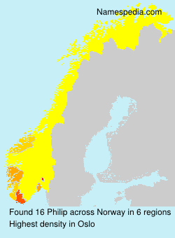 Surname Philip in Norway
