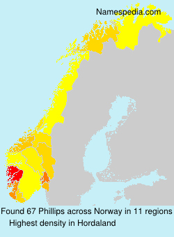 Familiennamen Phillips - Norway