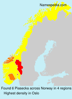 Surname Piasecka in Norway